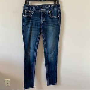 MIss Me Blue Mid Rise Skinny Jean- Size 27